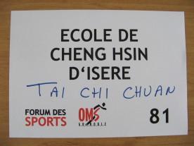 Ecole de Cheng Hsin d'Isère au Forum des Sports de l'OMS de Grenoble