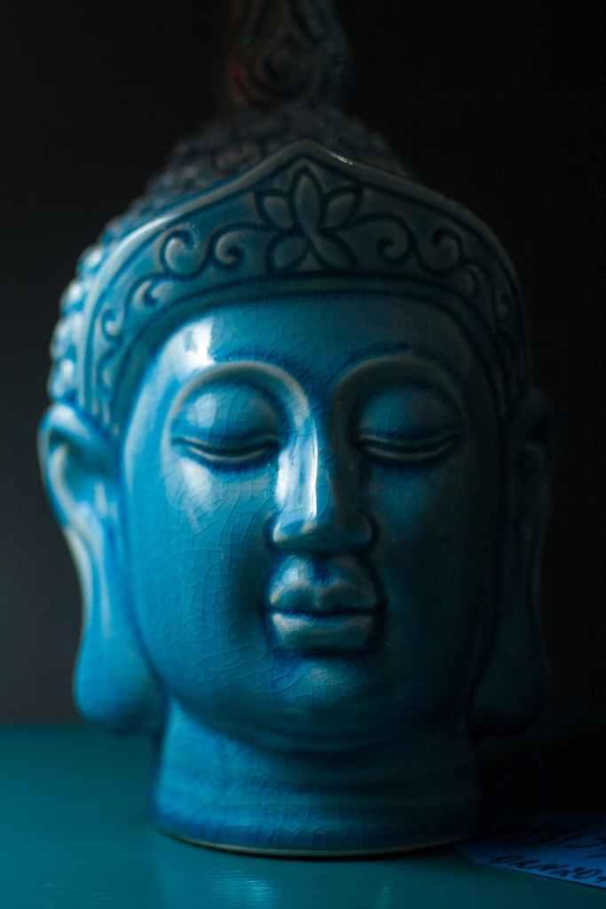 art asie bleu bouddha